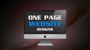 طراحی سایت تک صفحه ای